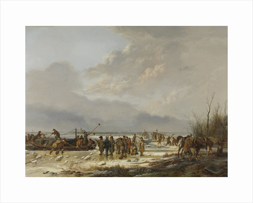 Breaking of the Ice on the Karnemelksloot near Naarden, January 1814, The Netherlands by Pieter Gerardus van Os