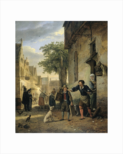 Jan Steen Sends his Son to the Streets to Exchange Paintings for Beer and Wine by Ignatius Josephus Van Regemorter