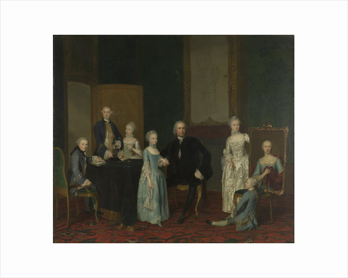 Portrait of Pieter Cornelis Hasselaer, Adviser to the Dutch East India Company and Burgomaster of Amsterdam, with his Family by George van der Mijn