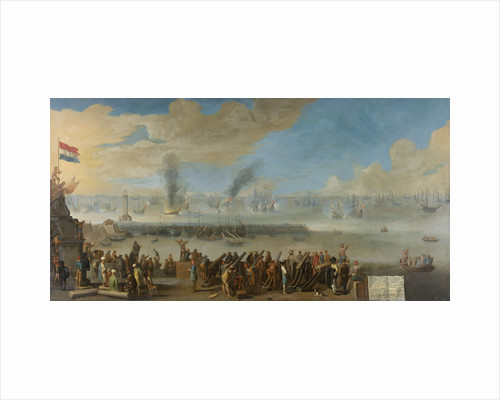 Battle of Livorno, 14 March 1653, an incident from the First Anglo-Dutch War by Anonymous