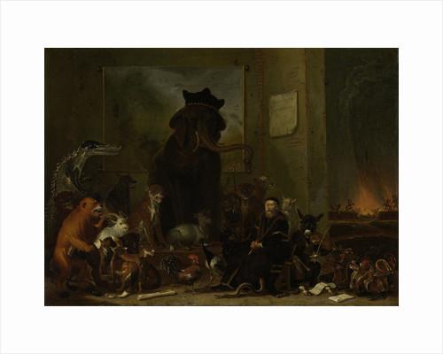Satire on the trial of Johan van Oldenbarneveldt by Cornelis Saftleven