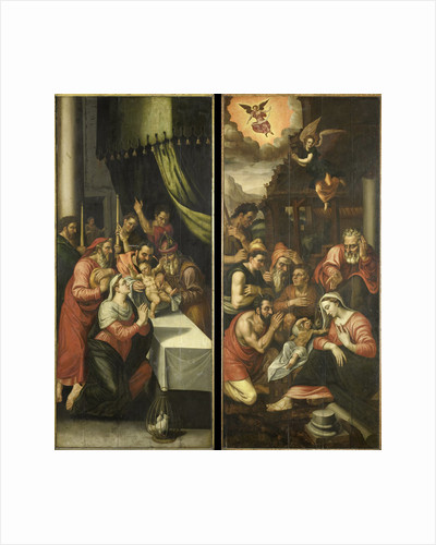 Two Altarpiece Wings with the Circumcision and Adoration of the Shepherds by Anonymous