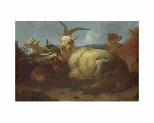 A Goatherd Watching his Animals by Johann Melchior Roos