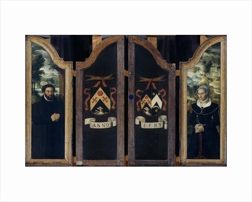 Two Wings of a Triptych with the Portraits of Julien de Brouckere and his Wife Elisabeth Canneel by Anonymous