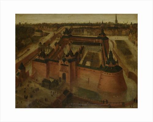 Bird's-eye View of the Vredenburg (Vredeborch) Castle in Utrecht, The Netherlands by Anonymous