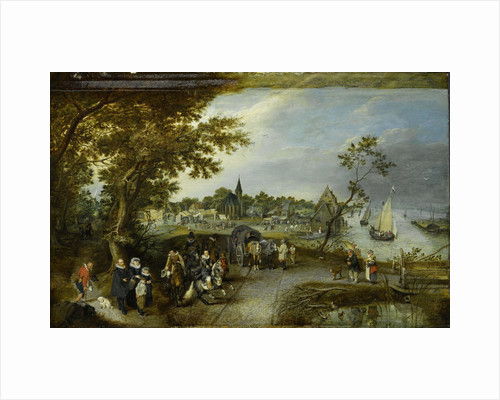Landscape with Figures and a Village Fair (Village Kermesse) by Adriaen Pietersz. van de Venne