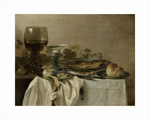 Still Life with a Fish by Pieter Claesz.