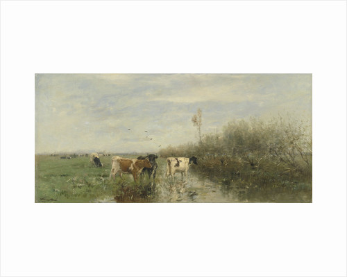 Cows in a Soggy Meadow by Willem Maris