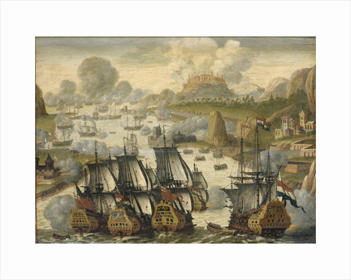 Naval Battle of Vigo Bay, Battle of Rande, 23 October 1702. Episode from the War of the Spanish Succession by Anonymous