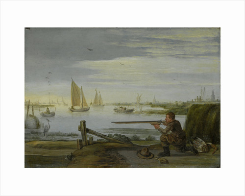 A Bird Hunter (A Sportsman aiming at a Heron) by Arent Arentsz.