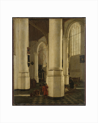 Interior of the Oude Kerk, Delft, with the Mausoleum of Pieter Pietersz Hein, Lieutenant-Admiral of Holland, The Netherlands by Hendrick Cornelisz. van Vliet