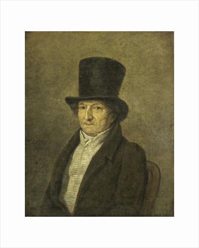 Portrait of Jean Bernard, Art Collector and Painter in Amsterdam by Gerrit Jan Michaëlis