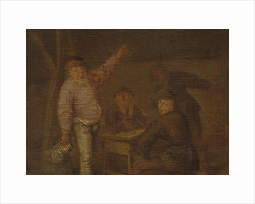 Peasants Drinking in a Barn by Pieter Hermansz. Verelst
