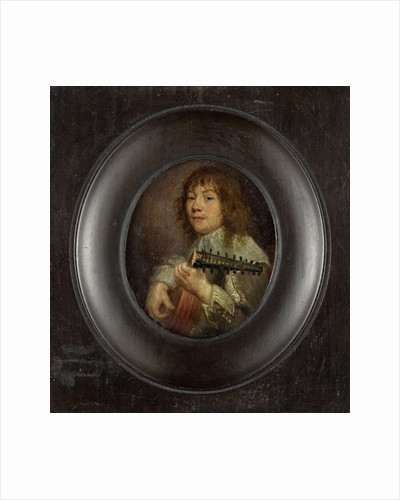 Portrait of a lute player by Anonymous