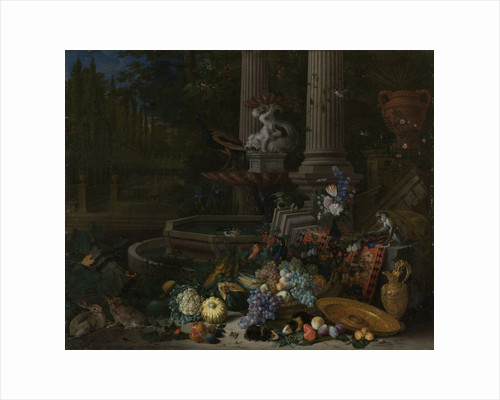 Still Life at a Fountain by Pieter Gijsels
