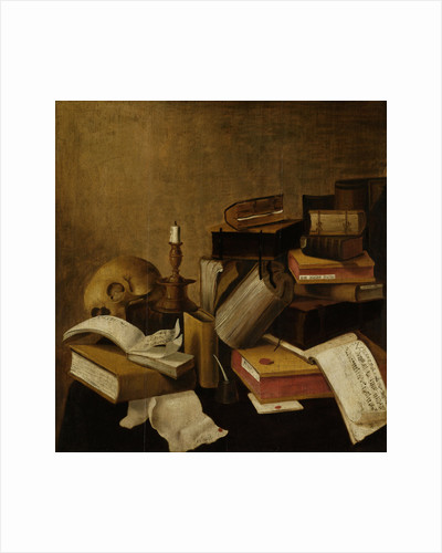 Vanitas Still Life with Books by Anonymous