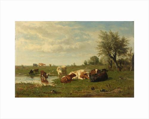 Cows in a Meadow by Gerard Bilders