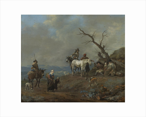 Country Road with Hunters and Peasants by Johannes Lingelbach