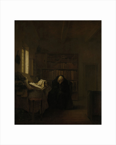A Scholar in his Study (The Old Savant) by Salomon Koninck