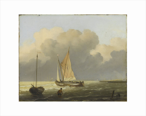 Coastal View with Spritsail Barge by Ludolf Bakhuysen