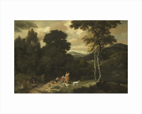 Landscape with Hunters by Jacob Esselens