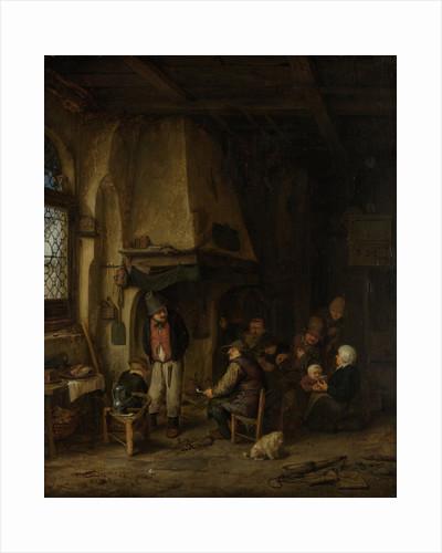 The Skaters, Peasants in an Interior by Adriaen van Ostade
