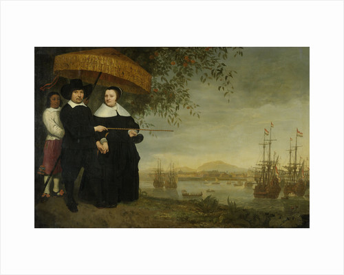 A Senior Merchant of the Dutch East India Company,Jacob Mathieusen and his Wife by Aelbert Cuyp