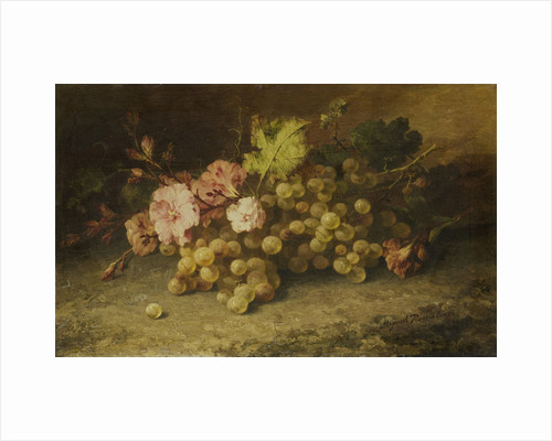 Still life with grapes by Margaretha Roosenboom