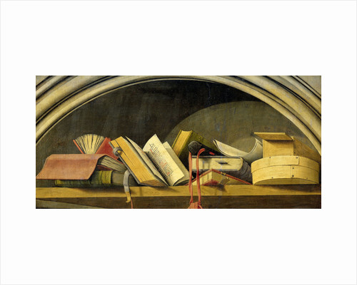 Still Life with Books in a Niche by Barthélémy d' Eyck