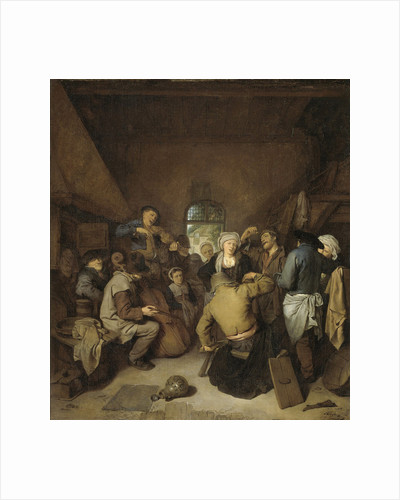 Music-making and Dancing Peasants (A Musical Entertainment) by Cornelis Pietersz. Bega