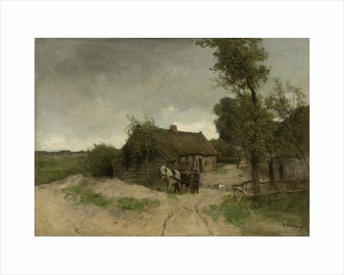 Cottage on the sand road by Anton Mauve