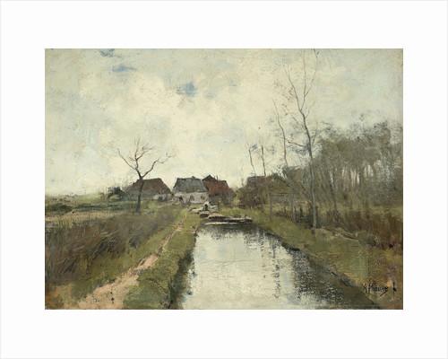 Cottage on a ditch by Anton Mauve