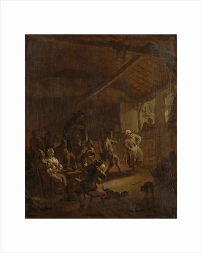 Peasants Dancing in a Barn by Nicolaes Pietersz. Berchem