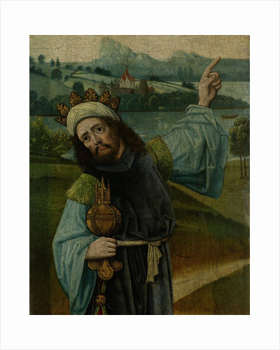 King Melchior, one of the Three Magi, Pointing at the Star, fragment from An Adoration of the Magi by Anonymous