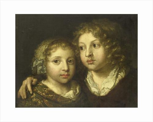 A daughter and a son (Constantijn?) of the artist by Caspar Netscher