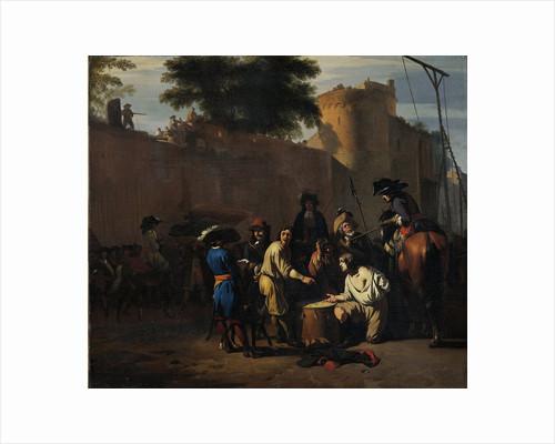 Dice Game at the Gallows by Jan van Huchtenburg
