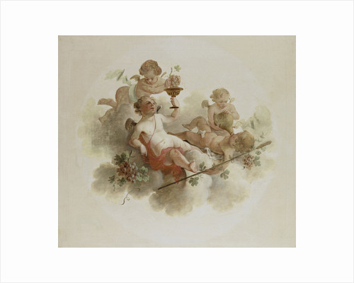 Four Putti with Grapes by Anonymous