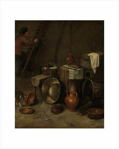Still life in a stable by Hendrik Potuyl