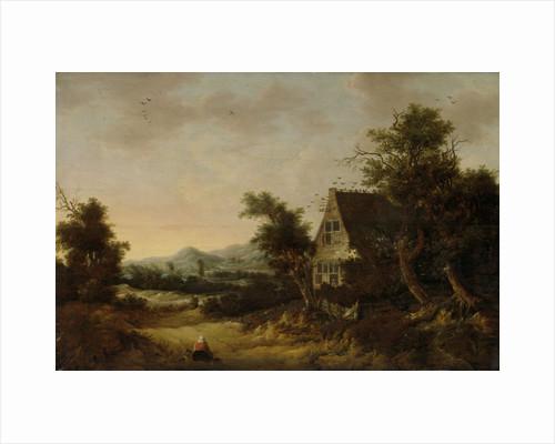 Hilly Landscape with Peasant Cottage by Cornelis van Zwieten