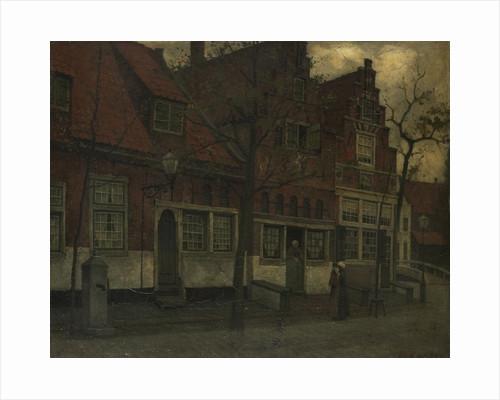 Houses in the Breedstraat in Enkhuizen, The Netherlands by Eduard Karsen