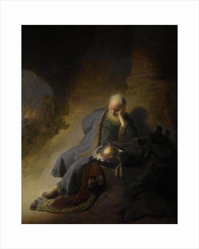 Jeremiah Lamenting the Destruction of Jerusalem by Rembrandt Harmensz. van Rijn