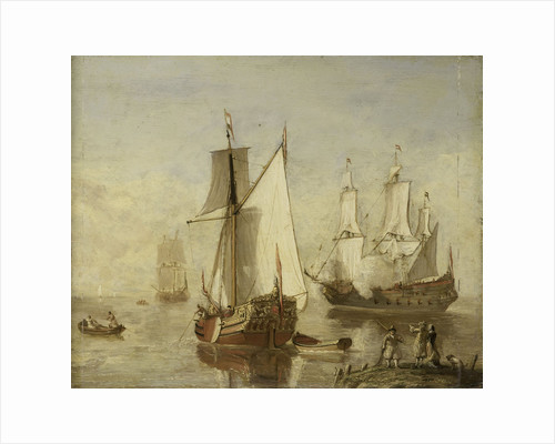 Speeljacht (Pleasure Yacht) and Warship by Anonymous