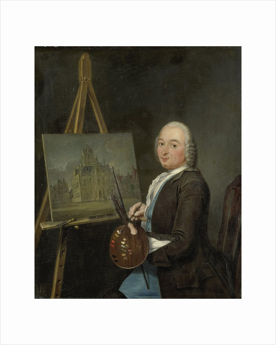 Portrait of Jan ten Compe, Painter and Art Dealer in Amsterdam by Tibout Regters