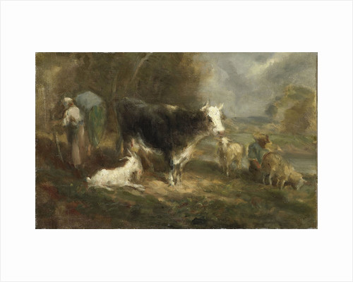 Farmyard with Cattle by Eugène Fromentin-Dupeux