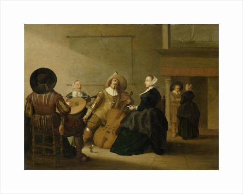 A musical company in an interior by Pieter Symonsz. Potter
