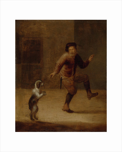 A Man Dancing with a Dog by François Verwilt