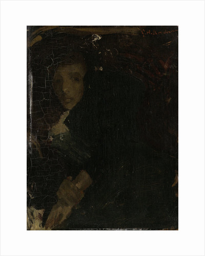 MCJ (Marie) Jordan, wife of the painter by George Hendrik Breitner