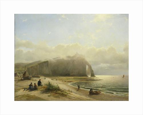 Seascape on the coast by Willem Anthonie van Deventer