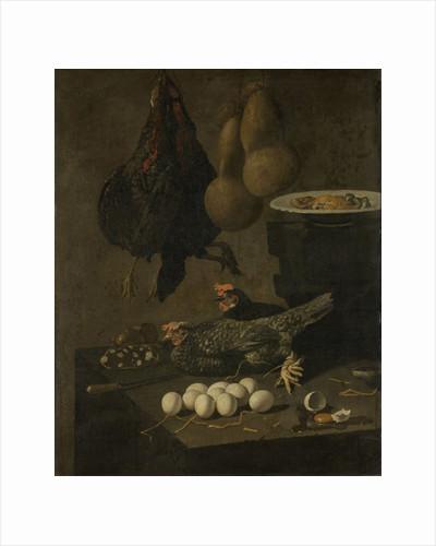 Still Life with Chickens and Eggs by Giovanni Battista Recco