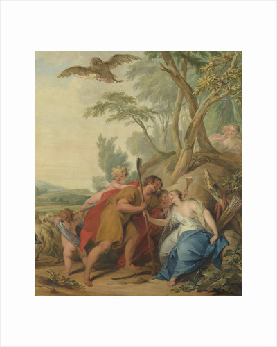 Jupiter, Disguised as a Shepherd, Seducing Mnemosyne, the Goddess of Memory by Jacob de Wit